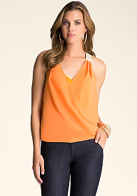 bebe Surplice Top