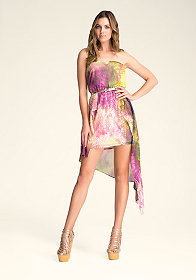 Strapless Print Dress at bebe