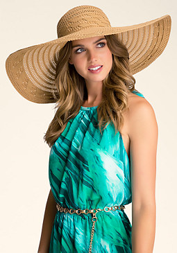 GROSSGRAIN FLOPPY HAT at bebe