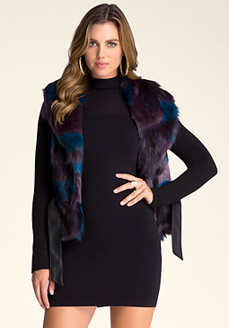 bebe Faux Fur Collar Jacket