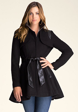 bebe Katy Wool Swing Coat