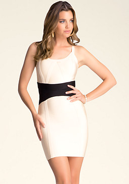 Bodycon Contrast Dress at bebe