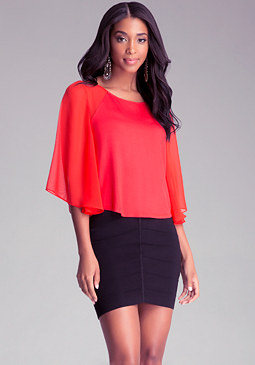 Chiffon Contrast Blouse at bebe