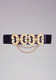 bebe Animal Stretch Belt