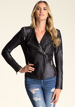 bebe Christa Leather Jacket