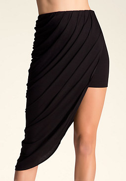 bebe Draped Mini Skirt
