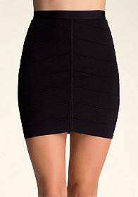 bebe Chevron Bandage Skirt