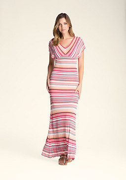 bebe Multi-Stripe Maxi Dress