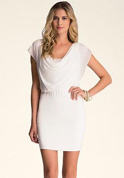 bebe Beaded Pullover Dress
