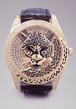 bebe Leopard Strap Watch