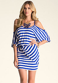 bebe Serena Stripe Dress