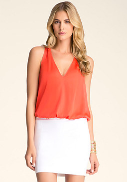 bebe Zip Back Top