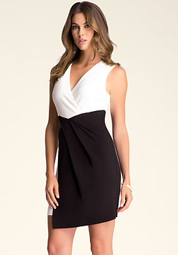 bebe Contrast Wrap Dress