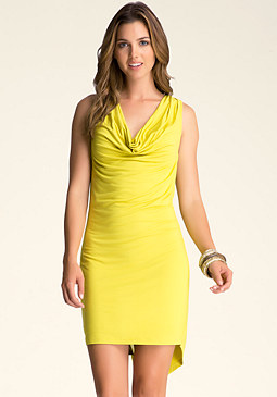 COWL NECK DRESS at bebe