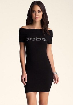 bebe Short Sleeve Sweater Dress