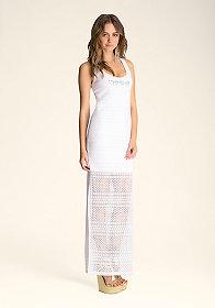 Double Layer Maxi Dress at bebe