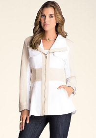 bebe Contrast Mini Trench Coat