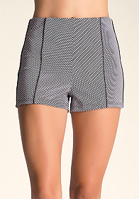 bebe High Waist Zip Shorts