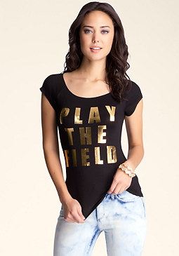 bebe Play The Field Merrow Tee