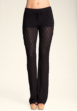 bebe Geo Lace Bootcut Leggings