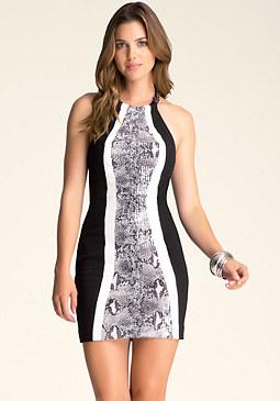 bebe Colorblock Sequin Dress