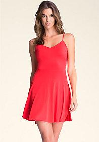 bebe Jersey Flirt Brandy Dress