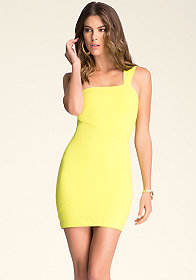 bebe Crossover Cutout Dress