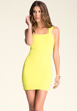 bebe Crossover Cutout Dress