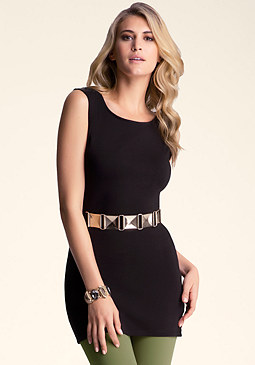 Belted Tunic Top at bebe