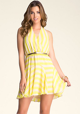 bebe Flirty-Skirt Dress