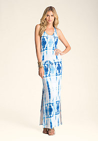 bebe Drawstring Racerback Dress