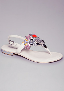 ZUMA JEWEL CLUSTER SANDALS at bebe