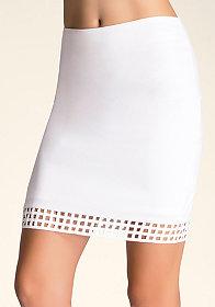 bebe Cage Detail Skirt