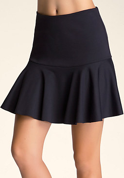 bebe Neoprene Fit & Flare Skirt
