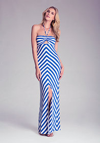 bebe Petite Cinched Maxi Dress