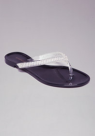 AUDRIELLA JELLY FLIP FLOPS at bebe
