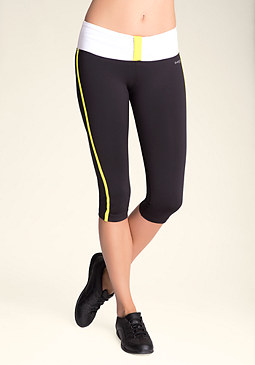 bebe Colorblock Knot Crop Capris