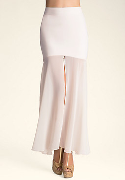 bebe Tracey Double Slit Skirt