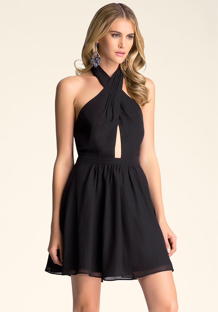 Peek-A-Boo Flare Dress