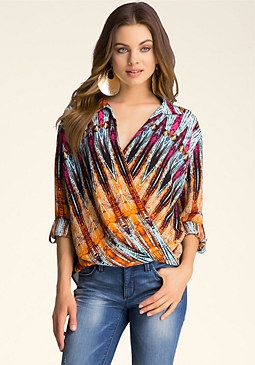 Wrap Front Top at bebe
