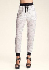 bebe Clarissa Knit Track Pants