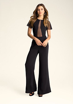 bebe Wide Leg Jumpsuit