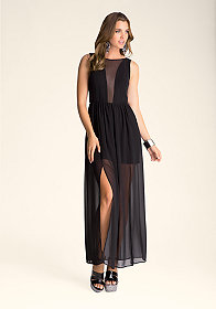 bebe Petula Backless Maxi Dress