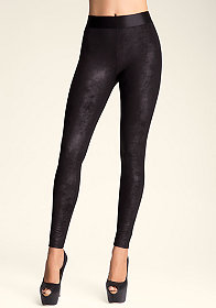bebe Stingray Coated Leggings