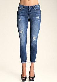 bebe Boyfriend Skinny Jeans
