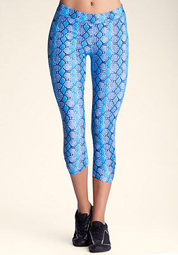 bebe Printed Crop Pants
