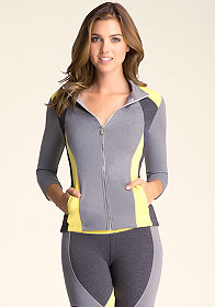 bebe Heather Colorblock Jacket