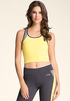 bebe Colorblock Crop Top