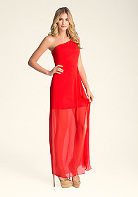 bebe One Shoulder Gown