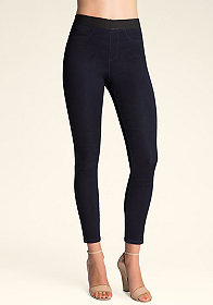 bebe Mid-Rise Crop Jeggings